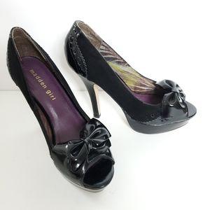 Madden Girl velvet and patent heels size 6.5